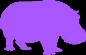 Brown And Purple Hippopotamus PNG Clip art
