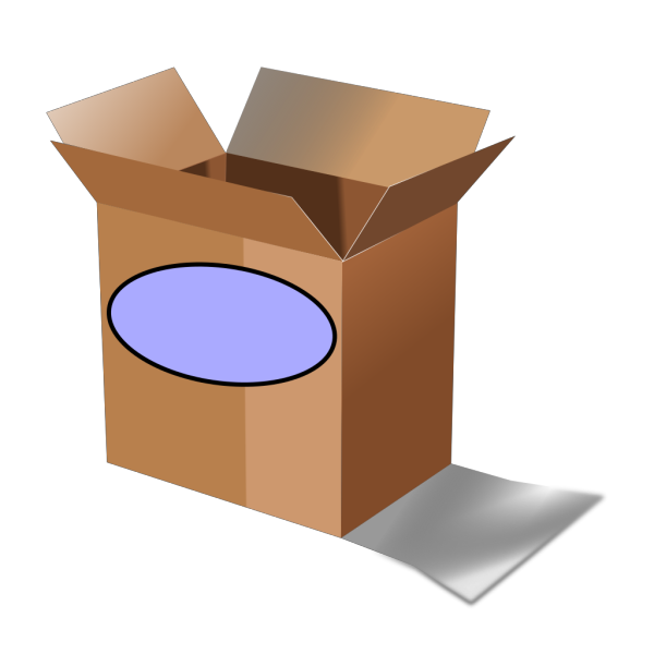 Brown Date Box PNG Clip art