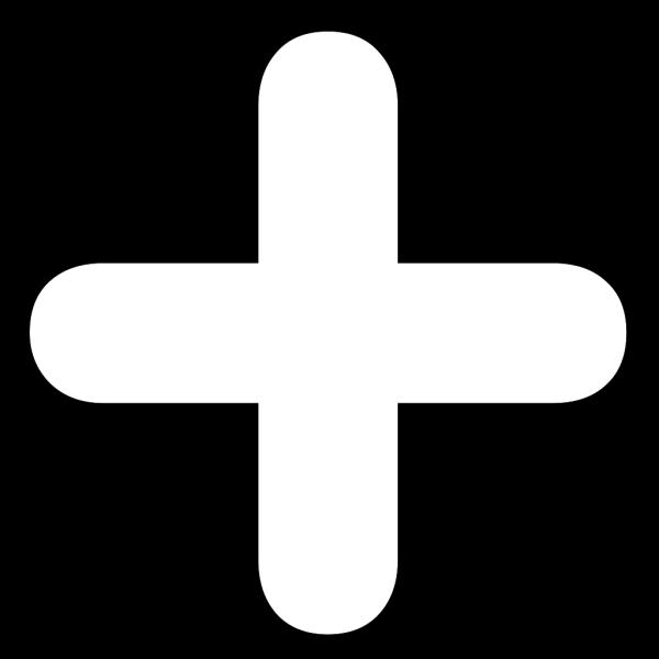 Add Button White PNG Clip art