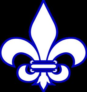 Royal Blue Fleur De Lis