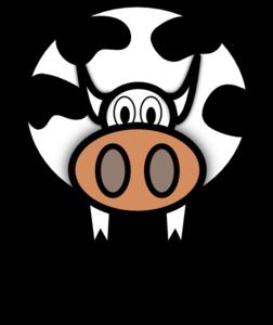 Simple Cartoon Cow PNG Clip art