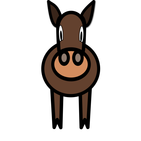 Simple Cartoon Horse PNG Clip art