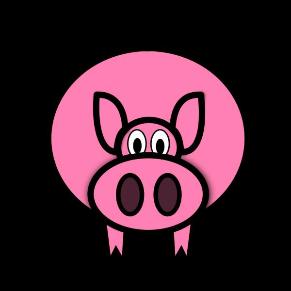 Simple Cartoon Pig PNG Clip art