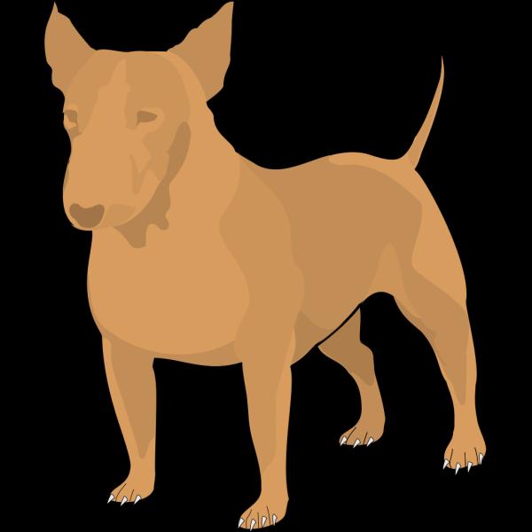Brown Bull Terrier PNG Clip art