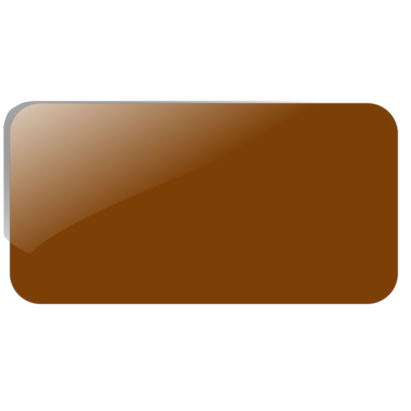 Brown Rectangle Button Panel PNG Clip art