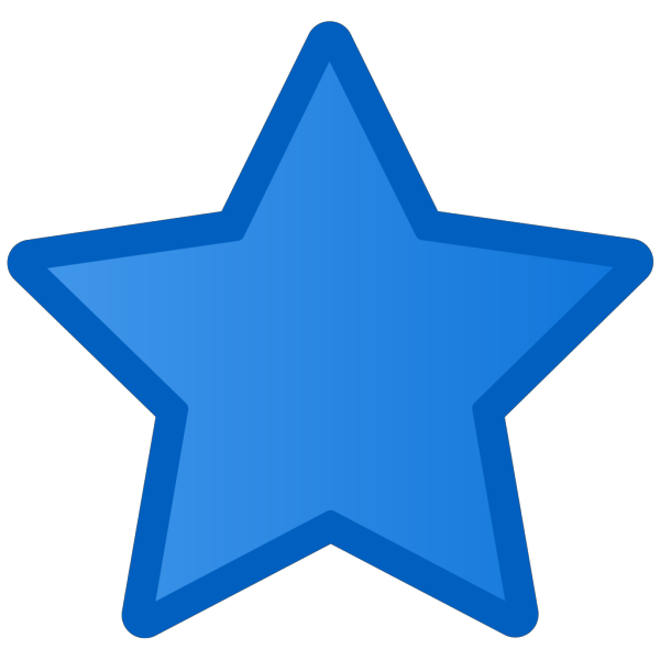 Blue Star PNG icons