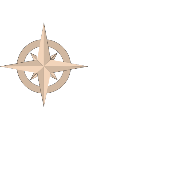 Beige Compass PNG Clip art