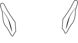 Orange Mouse W/ Brown Ears PNG Clip art