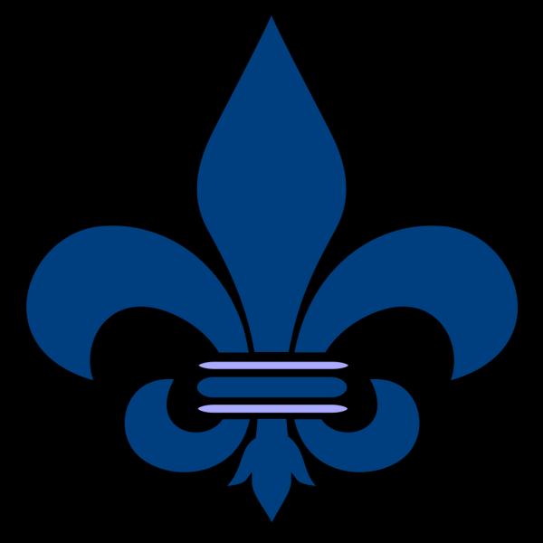 Blue Fleur De Lis PNG Clip art