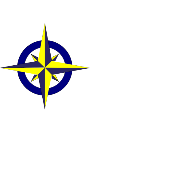 Blue And Gold Compass PNG Clip art