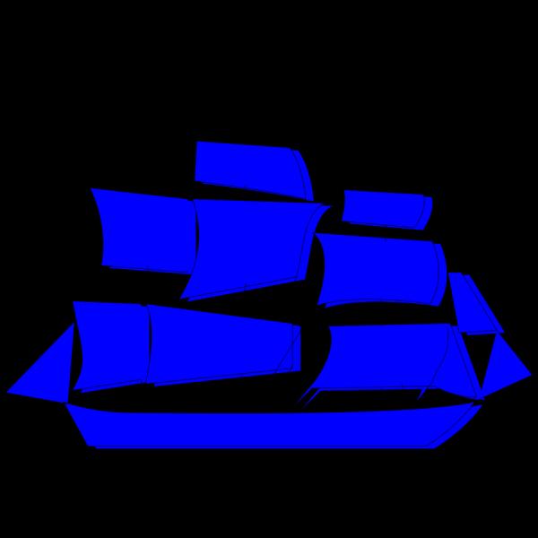 Blue Boat PNG Clip art