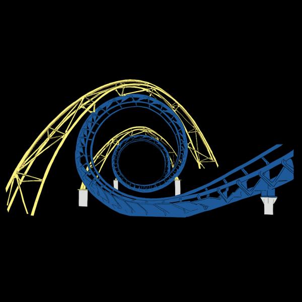 Roller Coaster Tracks PNG Clip art