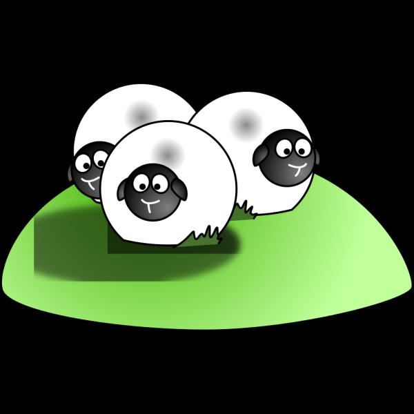 Simple Cartoon Sheep PNG Clip art