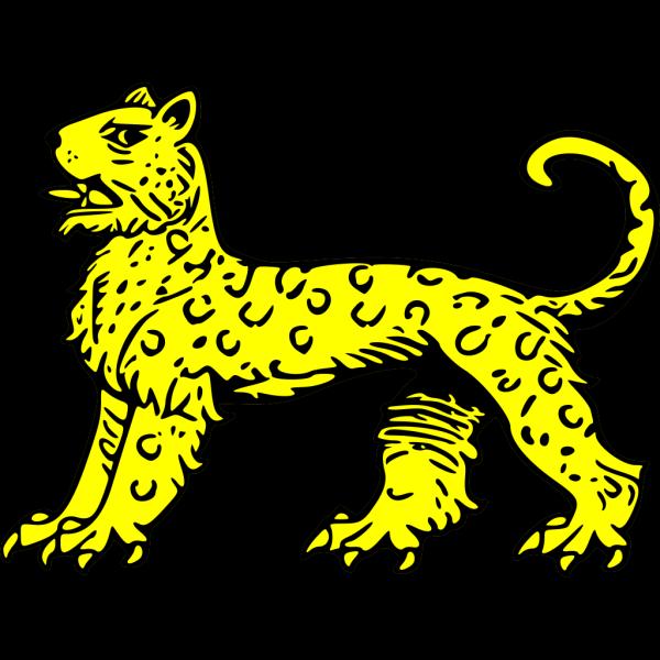 Gold Leopard Symbol PNG Clip art