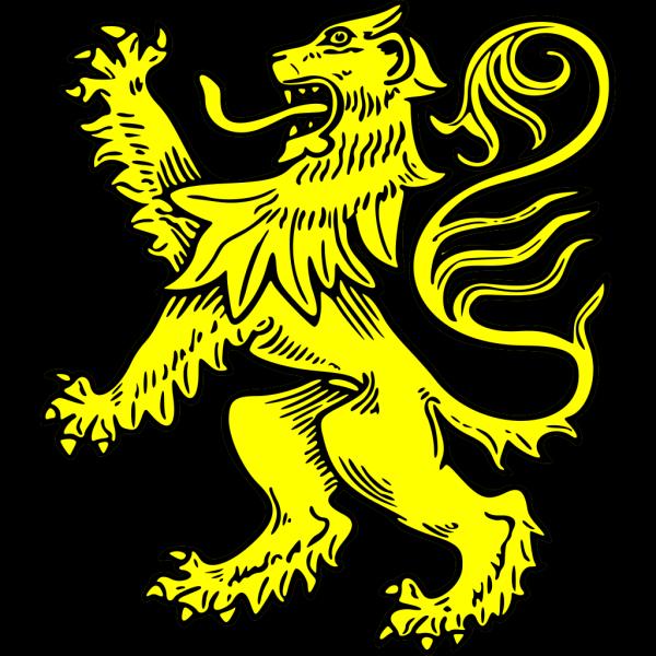 Gold Lion Symbol PNG Clip art