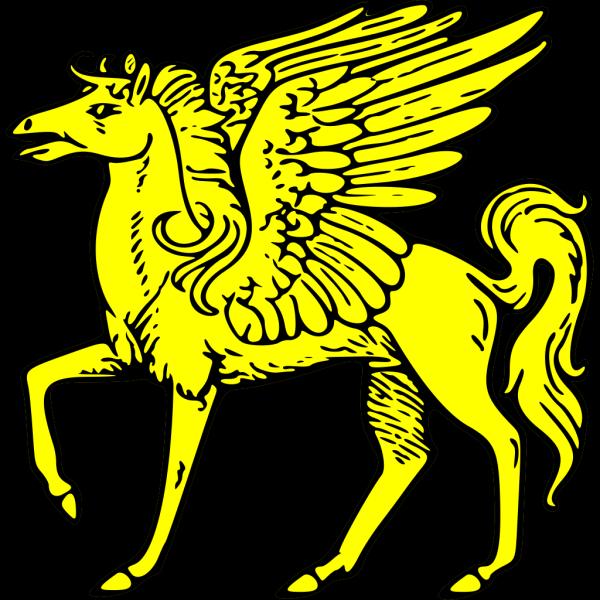 Gold Pegasus Symbol PNG Clip art