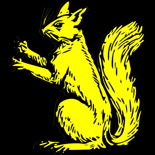Gold Squirrel Symbol PNG Clip art