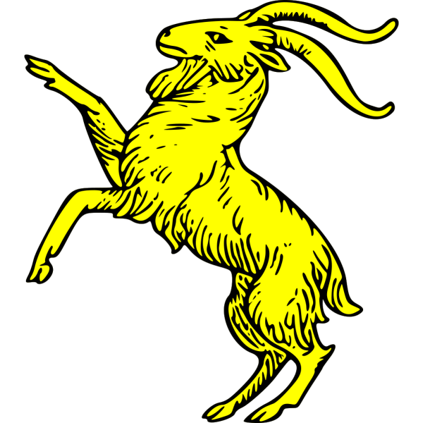 Gold Goat Symbol PNG icon