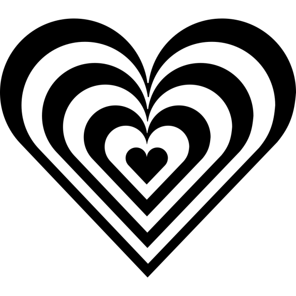 Zebra Heart PNG icons