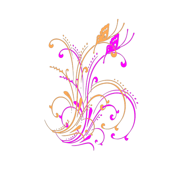 Butterfly Scroll clipart