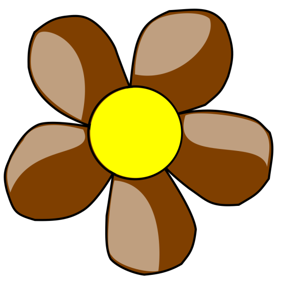 Brown Daisy PNG Clip art