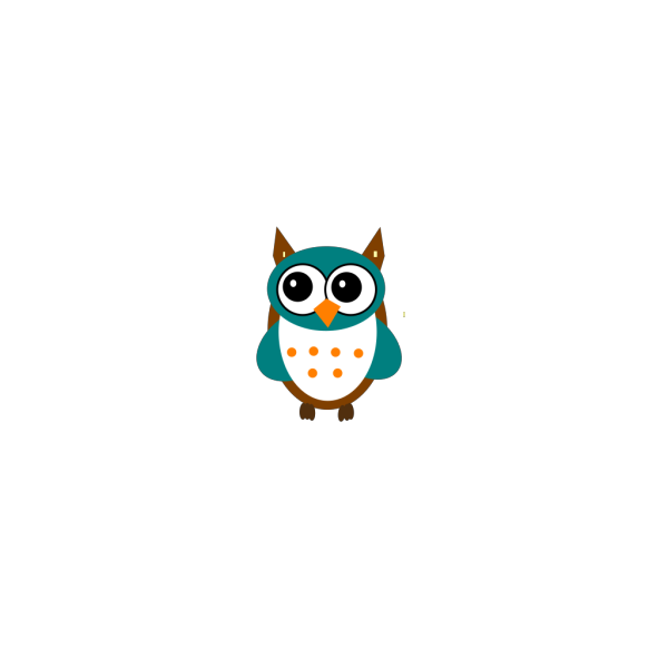 Cute Blue Owl
