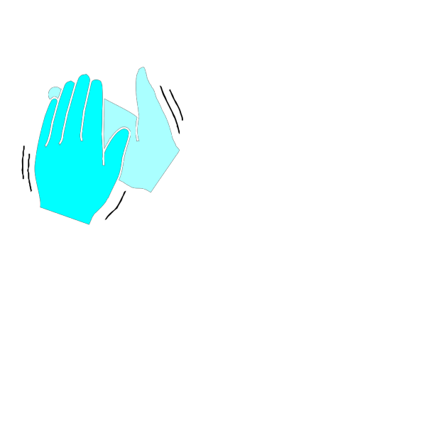 Black & White Clapping Hands PNG Clip art