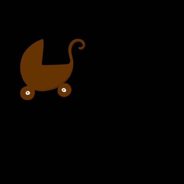 Brown Pram PNG icon