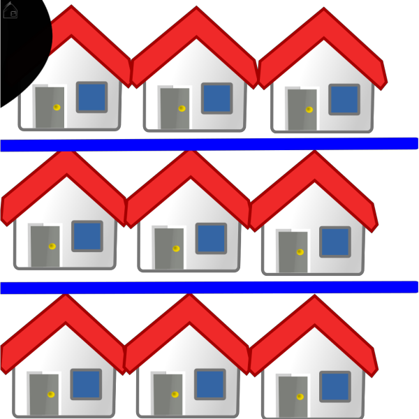 Two Brown Houses PNG Clip art