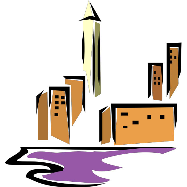Buildings By Water PNG images