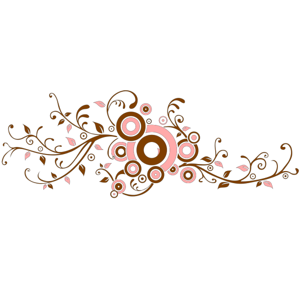 Pink And Brown Flourish PNG images