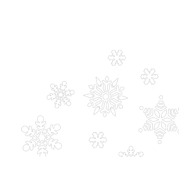 Multi Blue Snowflakes PNG Clip art