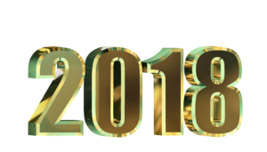 2018 Happy New Year Transparent Background PNG Clip art