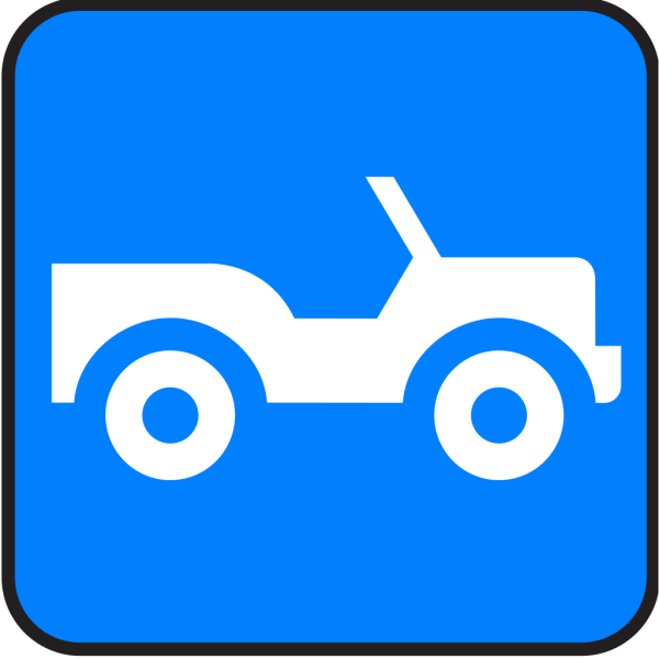 Blue Jeep PNG icons