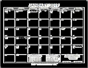 2019 Calendar PNG Background Image PNG Clip art