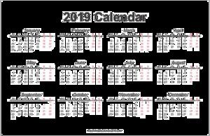 2019 Calendar PNG Photos PNG Clip art