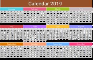 2019 Calendar PNG Pic PNG Clip art