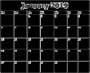 2019 Calendar PNG Transparent Image PNG Clip art