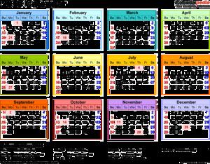2019 Calendar PNG Transparent PNG Clip art