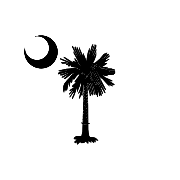 Sc Palmetto Tree Blue Right Side Moon PNG Clip art