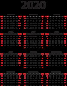 2020 Calendar PNG Background Image PNG Clip art
