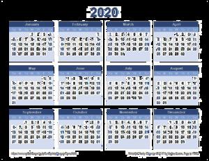 2020 Calendar PNG File PNG Clip art