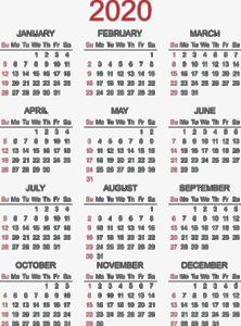 2020 Calendar PNG Photos PNG Clip art