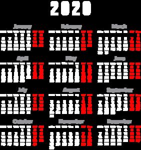 2020 Calendar PNG Transparent HD Photo PNG Clip art