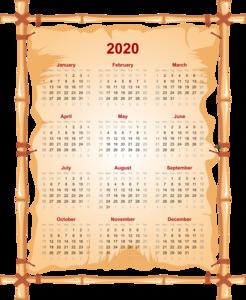 2020 Calendar PNG Transparent PNG clipart
