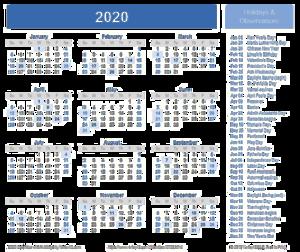 2020 Calendar Transparent Background PNG Clip art