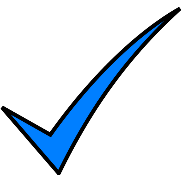 Blue Check Mark PNG Clip art