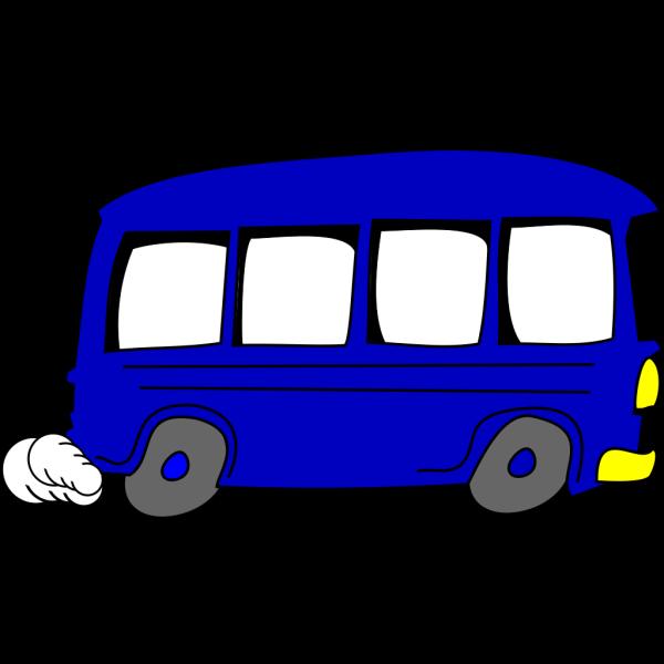 Blue Pals Bus PNG Clip art
