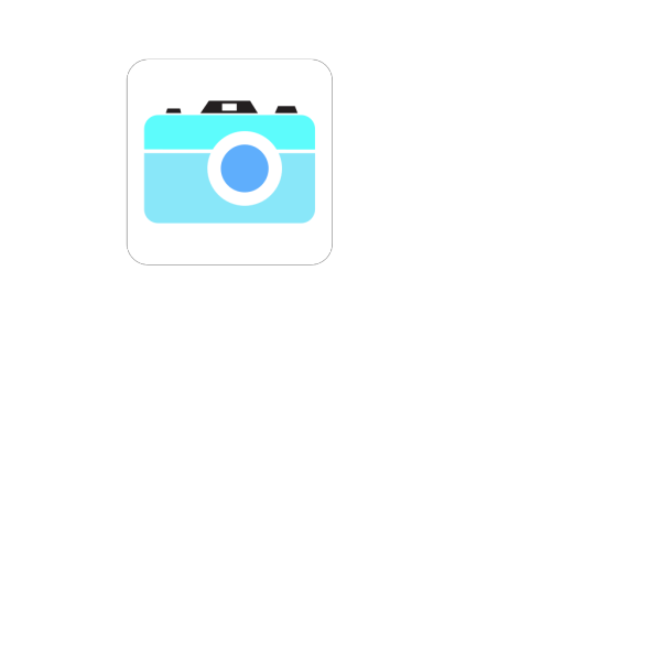 Blue Camera Icon PNG icon