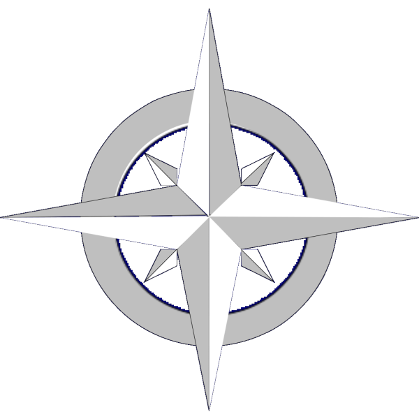 Compass Rose In Azure PNG Clip art